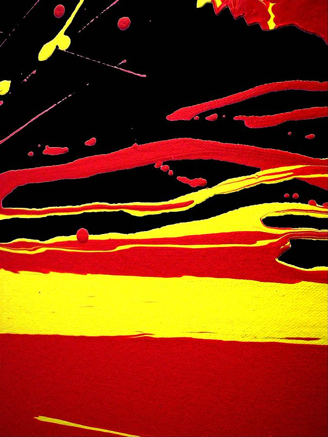 Red Yellow Black Abstract Painting