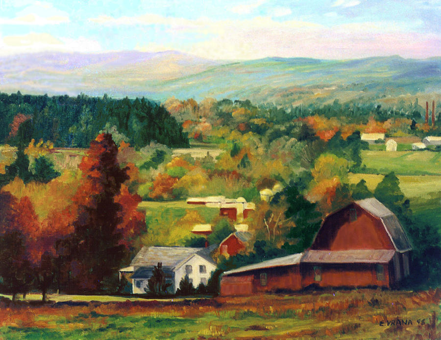 Reeds Farm Ithaca New York Painting  - Reeds Farm Ithaca New York Fine Art Print