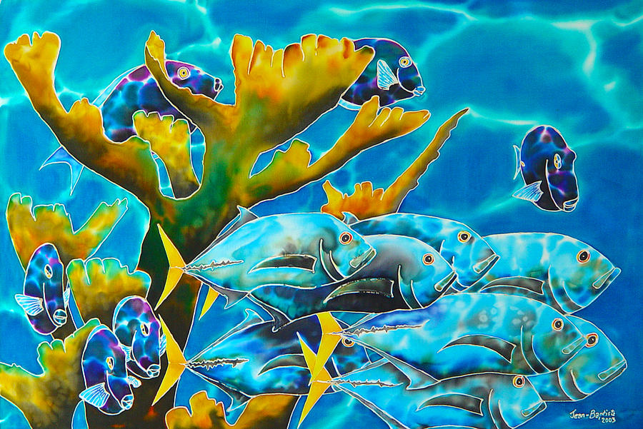 Reef Fish Painting  - Reef Fish Fine Art Print