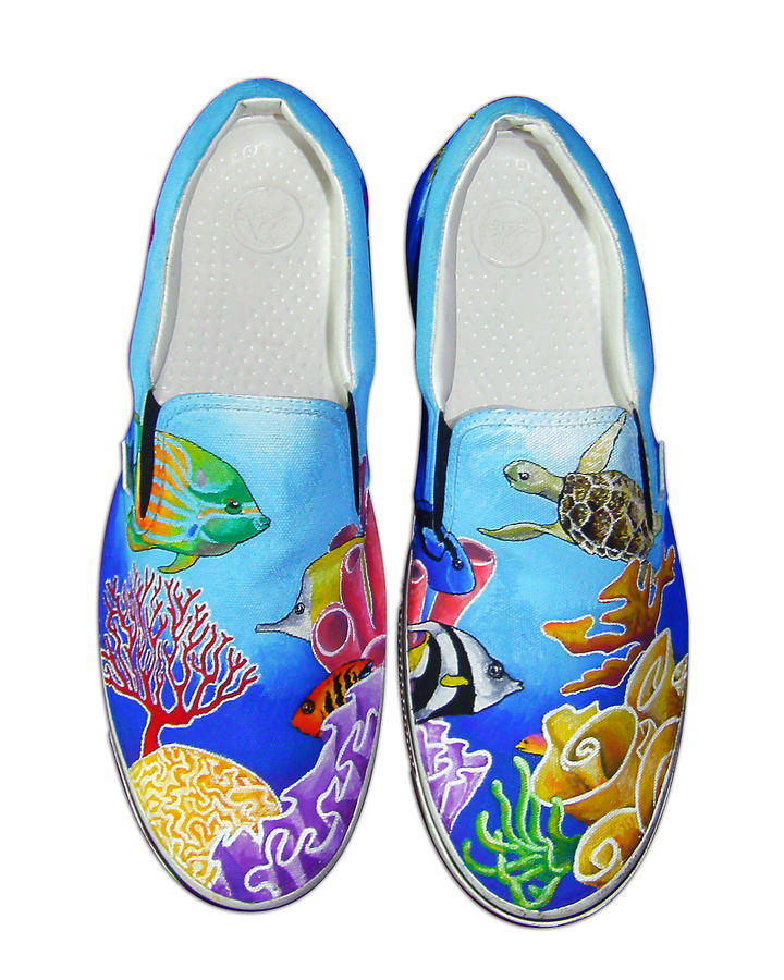 Reef Walkers Painting  - Reef Walkers Fine Art Print