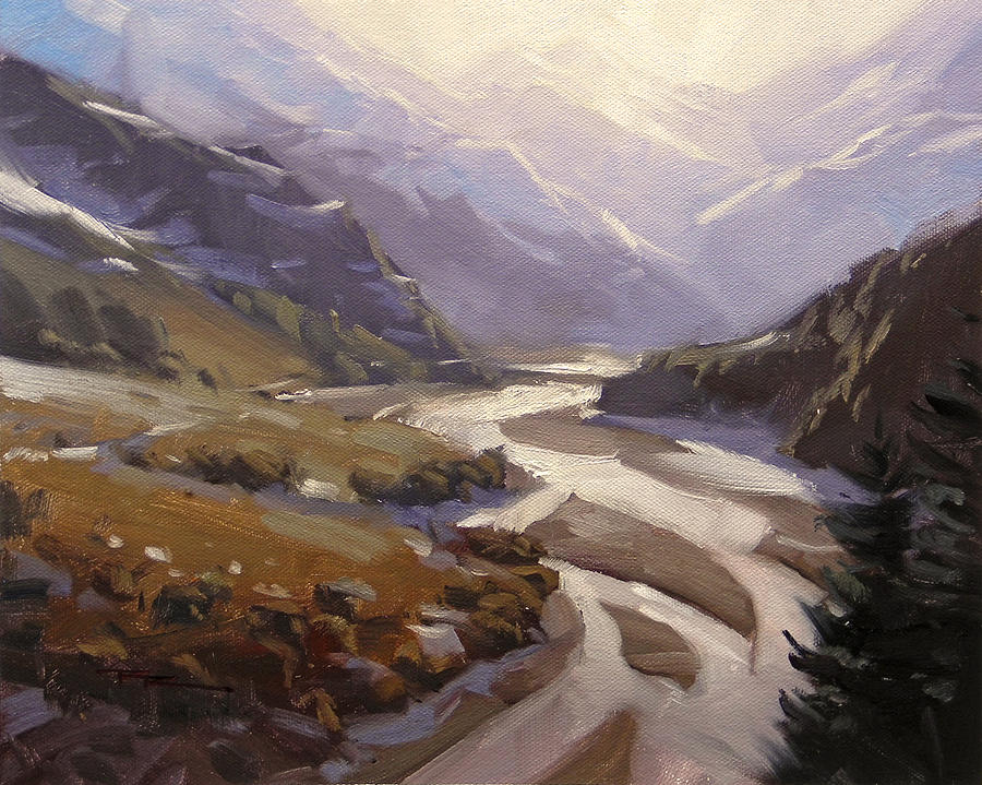 Valley Painting - Rees Valley by Richard Robinson