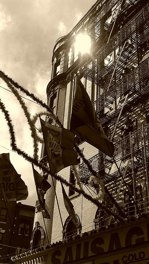 Feast Of San Gennaro Photograph - Reflecting In Little Italy by Catie Canetti