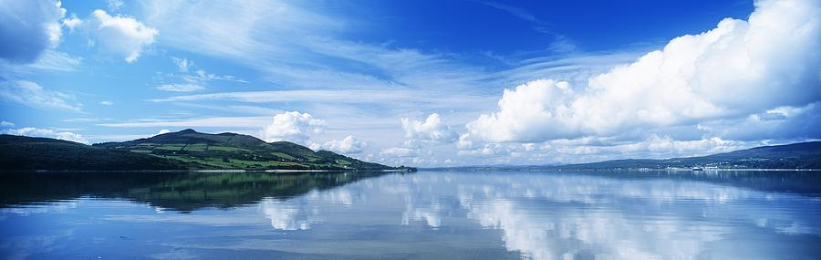 Cloud Photograph - Reflection Of Clouds In Water, Lough by The Irish Image Collection