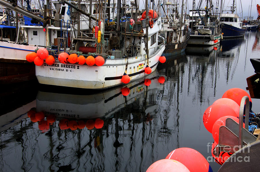 Fishing Boats Photograph - Reflections At French Creek by Bob Christopher