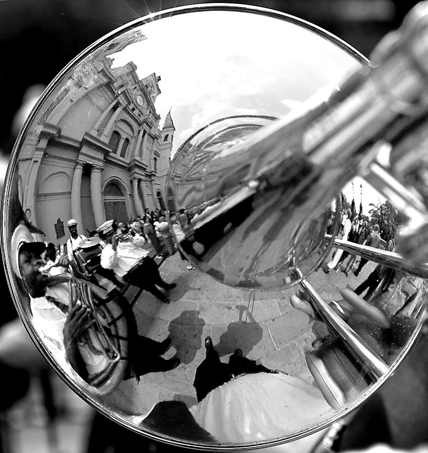 Reflections In A Trombone Photograph