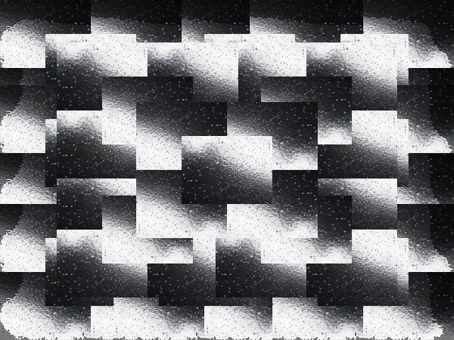 Abstract Digital Art - Reflections Of A Rain Shower by Tim Allen