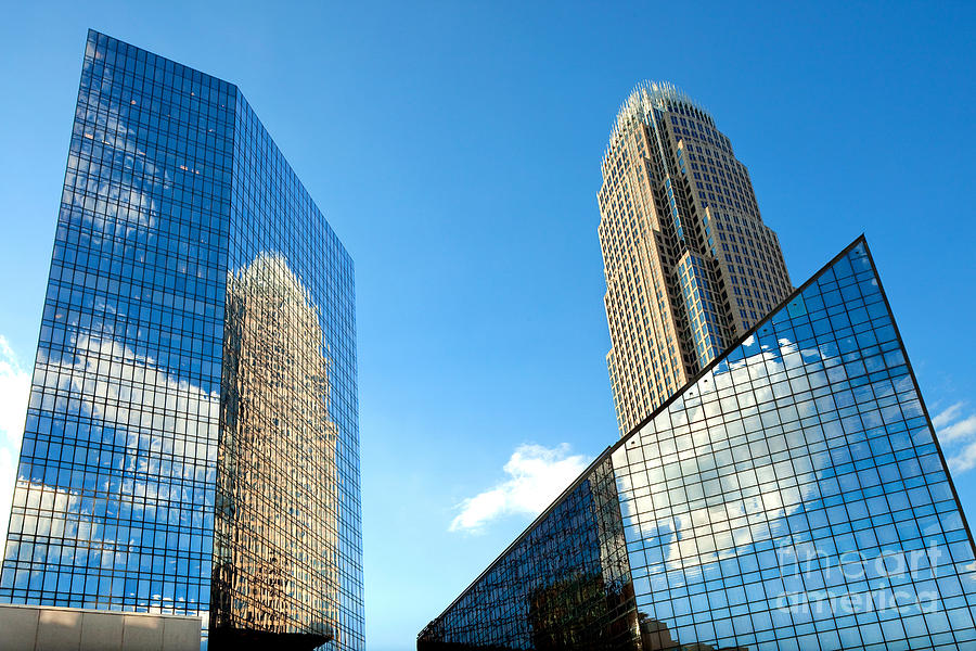 Reflections Of Bank Of America Tower Photograph
