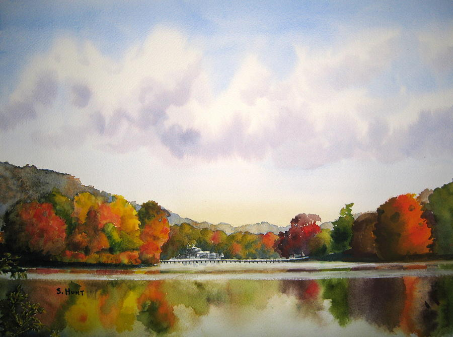 Reflections Of Fall Painting  - Reflections Of Fall Fine Art Print