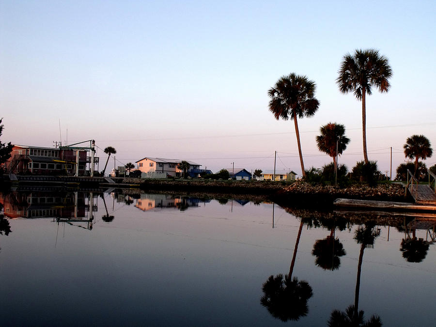 Reflections Of Keaton Beach Marina Photograph