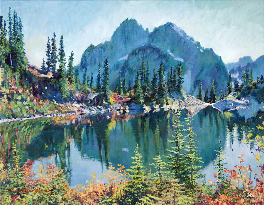 Reflections On Gem Lake Painting  - Reflections On Gem Lake Fine Art Print