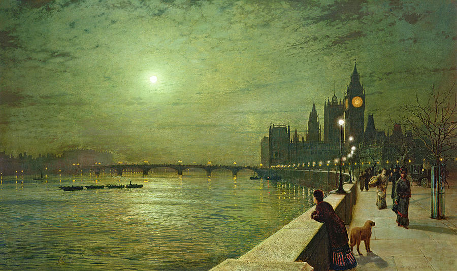 Reflections On The Thames Painting