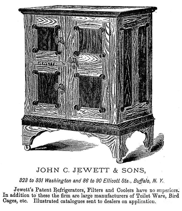 Refrigerator, 1876 Photograph