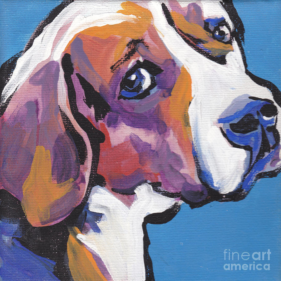 Regal Beagle Painting