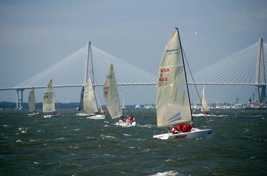 Regatta In Charleston Harbor Photograph  - Regatta In Charleston Harbor Fine Art Print