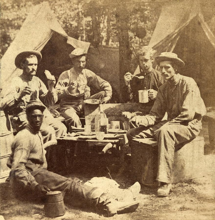 Relaxed Scene Of Soldiers From The Army Photograph