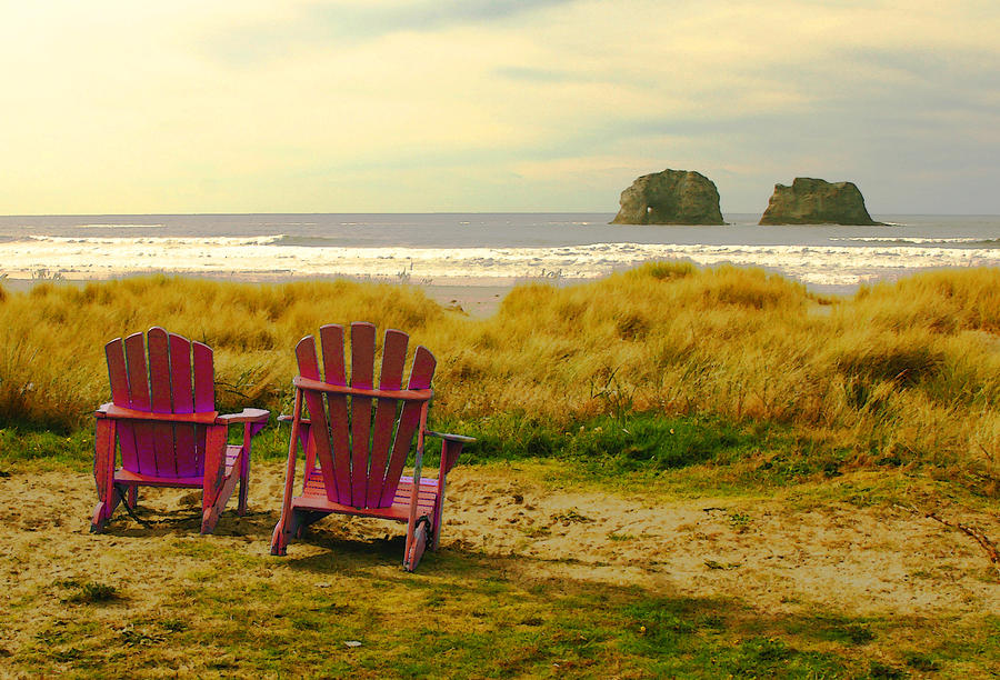 Relaxing At Rockaway Beach And Twin Rocks Photograph
