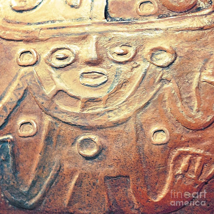 Relief Art In Earthtones Photograph