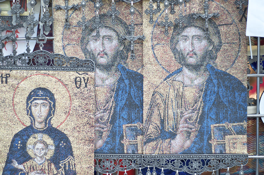Religious Icons And Crosses Photograph  - Religious Icons And Crosses Fine Art Print