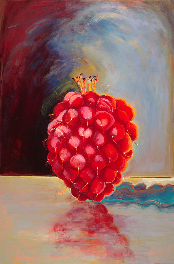 Remarkable Raspberry Painting