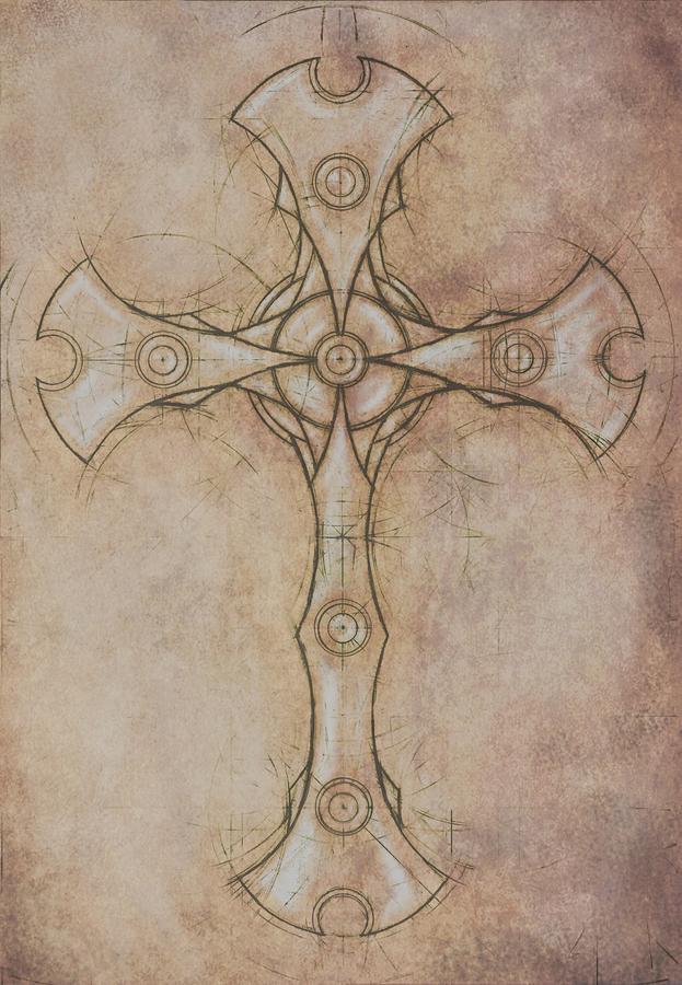 Renaissance Cross I Painting