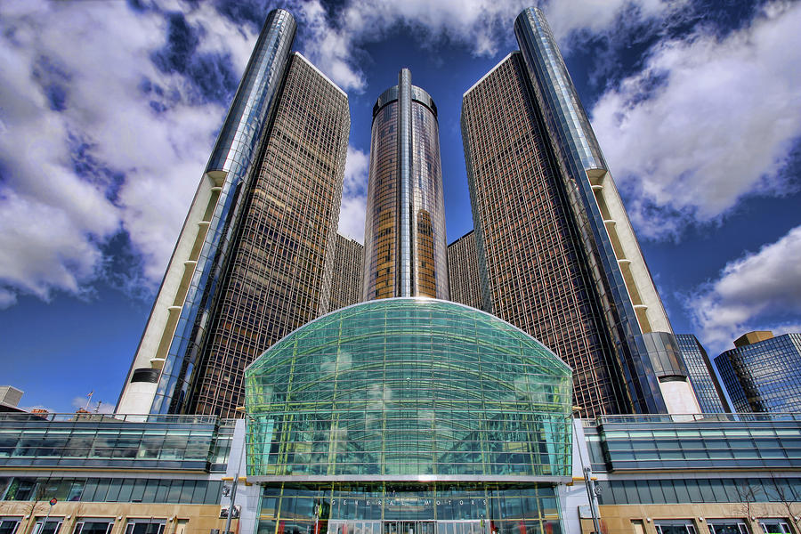 Rencen Detroit Gm Renaissance Center Photograph  - Rencen Detroit Gm Renaissance Center Fine Art Print