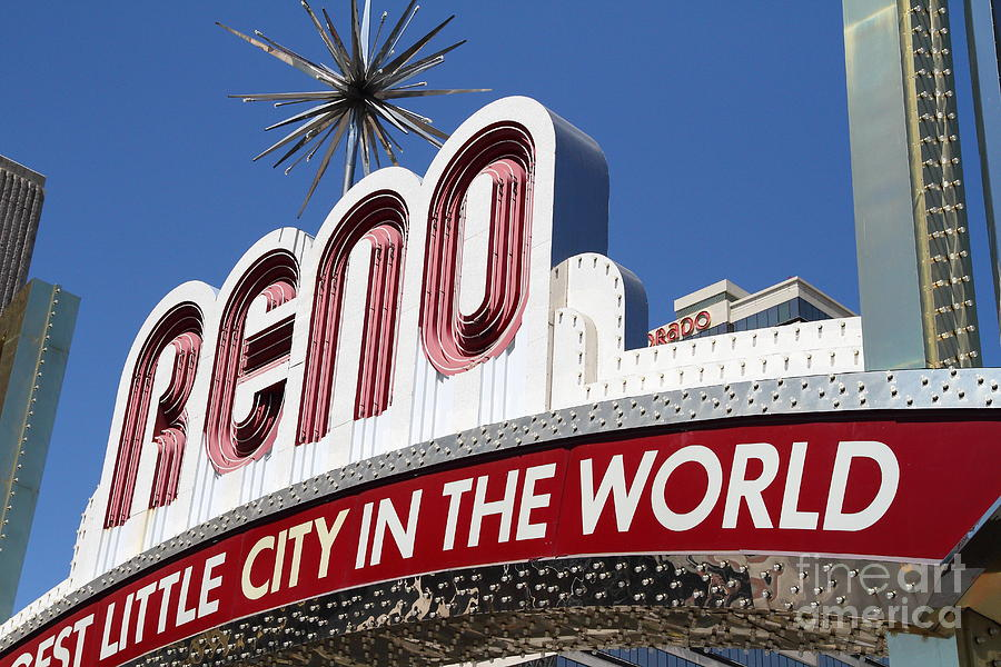 Reno . The Biggest Little City In The World Photograph