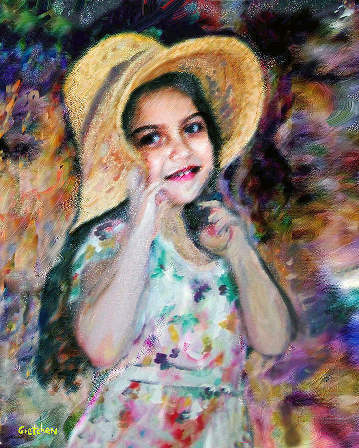Renoir girl with flowers