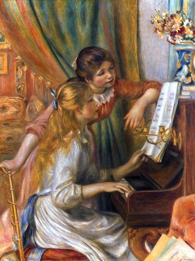 Renoir: Girls/piano, 1892 Photograph  - Renoir: Girls/piano, 1892 Fine Art Print