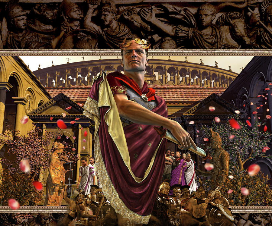 Republic Of Rome Digital Art  - Republic Of Rome Fine Art Print