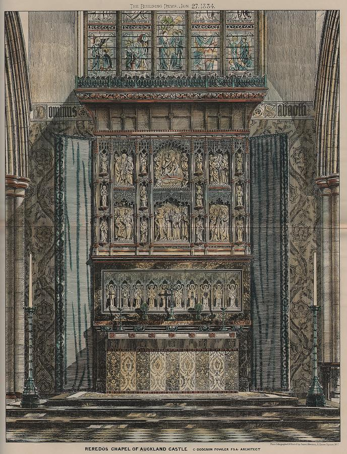 Reredos Chapel Of Aukland Castle 1884 Painting