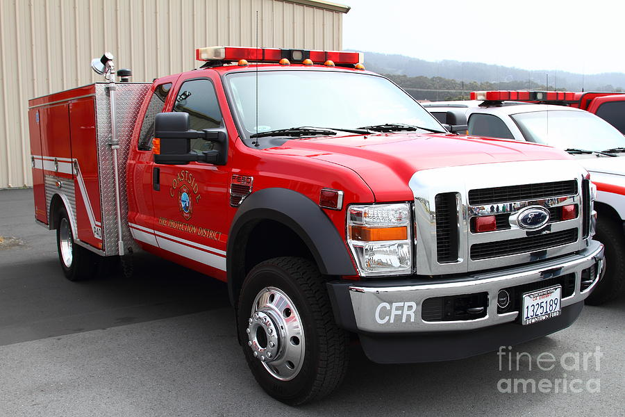 Rescue Truck . Coastside Fire Protection District 7d15096 Photograph