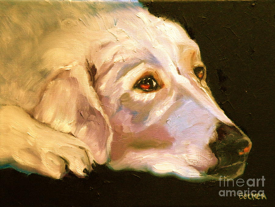 Rescued Golden Painting  - Rescued Golden Fine Art Print