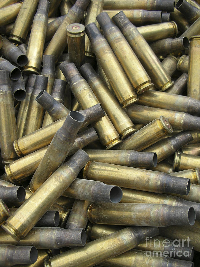 Residual Ammunition Casing Materials Photograph