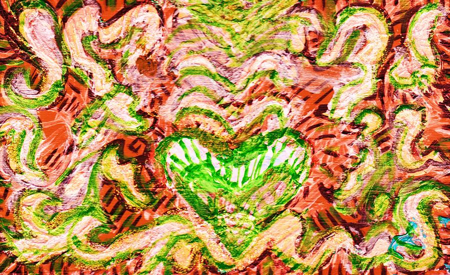 Wood Painting - Resonating Heart by Anne-Elizabeth Whiteway
