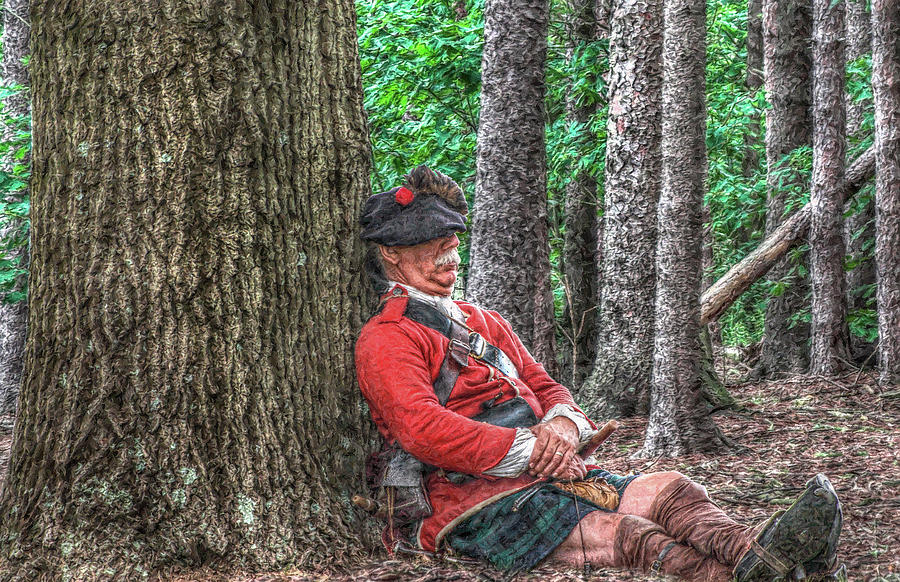 Rest From The March Royal Highlander Digital Art  - Rest From The March Royal Highlander Fine Art Print