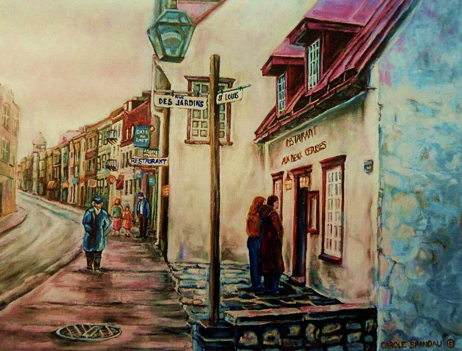 Restaurant Aux Anciens Canadiens Quebec City Painting