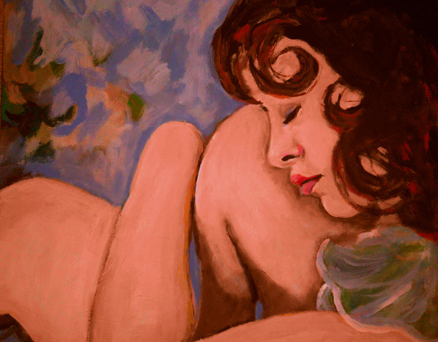 Girl Painting - Resting Girl by Adam Kissel