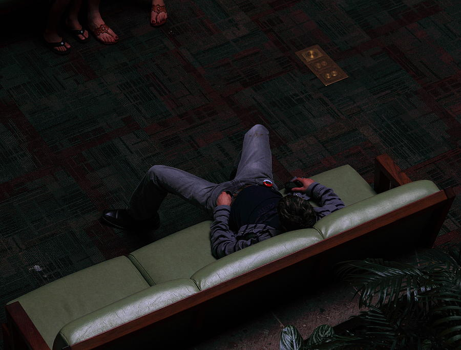 Resting In Mall Photograph