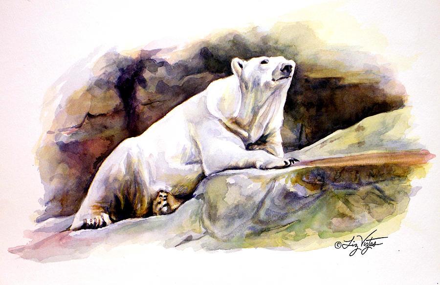Resting Polar Bear Painting