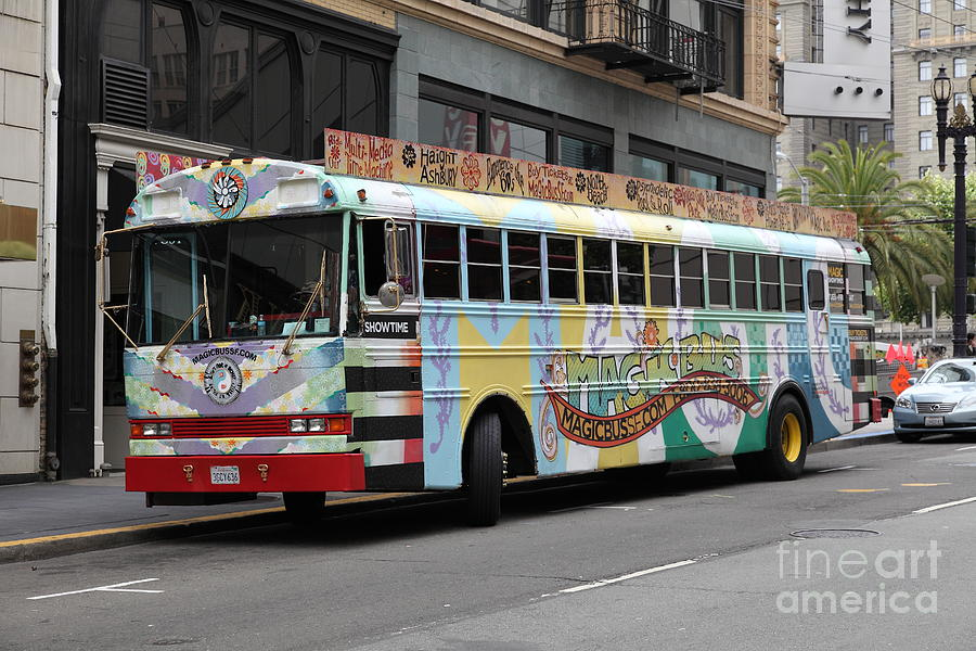 Retro 60s San Francisco Haight Ashbury Magic Bus - 5d17923 Photograph  - Retro 60s San Francisco Haight Ashbury Magic Bus - 5d17923 Fine Art Print