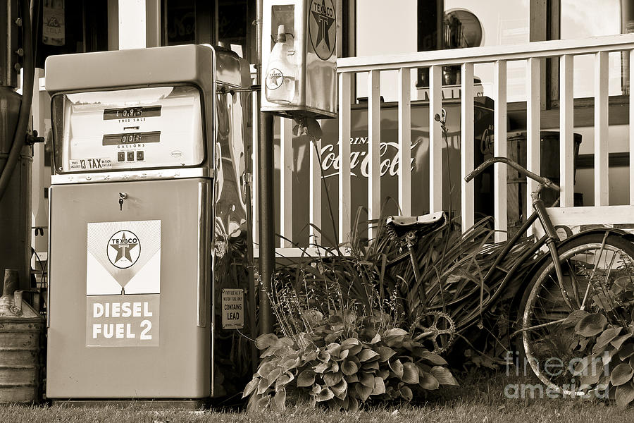 Retro Fuel For Life Photograph  - Retro Fuel For Life Fine Art Print