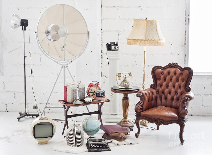 Retro Furniture Photograph by Setsiri Silapasuwanchai - Retro