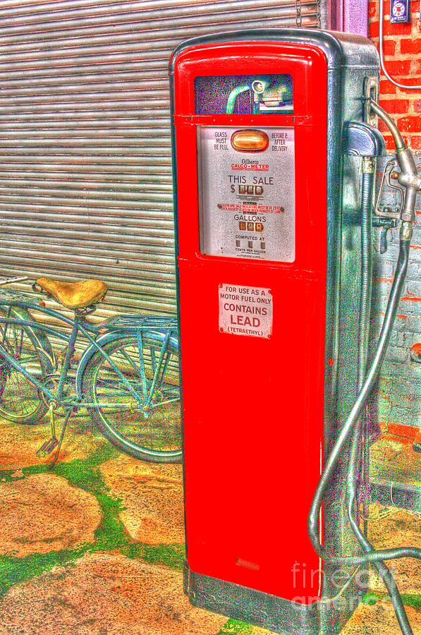 Retro Gas Pump - Color Photograph