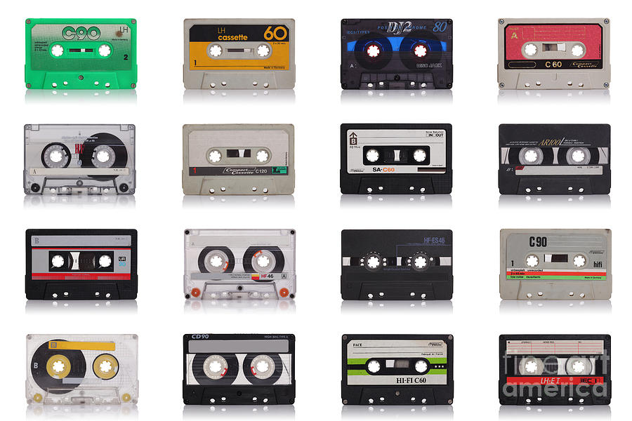 Retro Music Cassette Photograph  - Retro Music Cassette Fine Art Print
