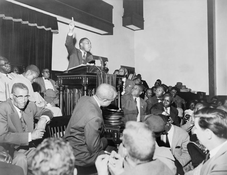 History Photograph - Rev. Martin Luther King, Jr., Speaking by Everett