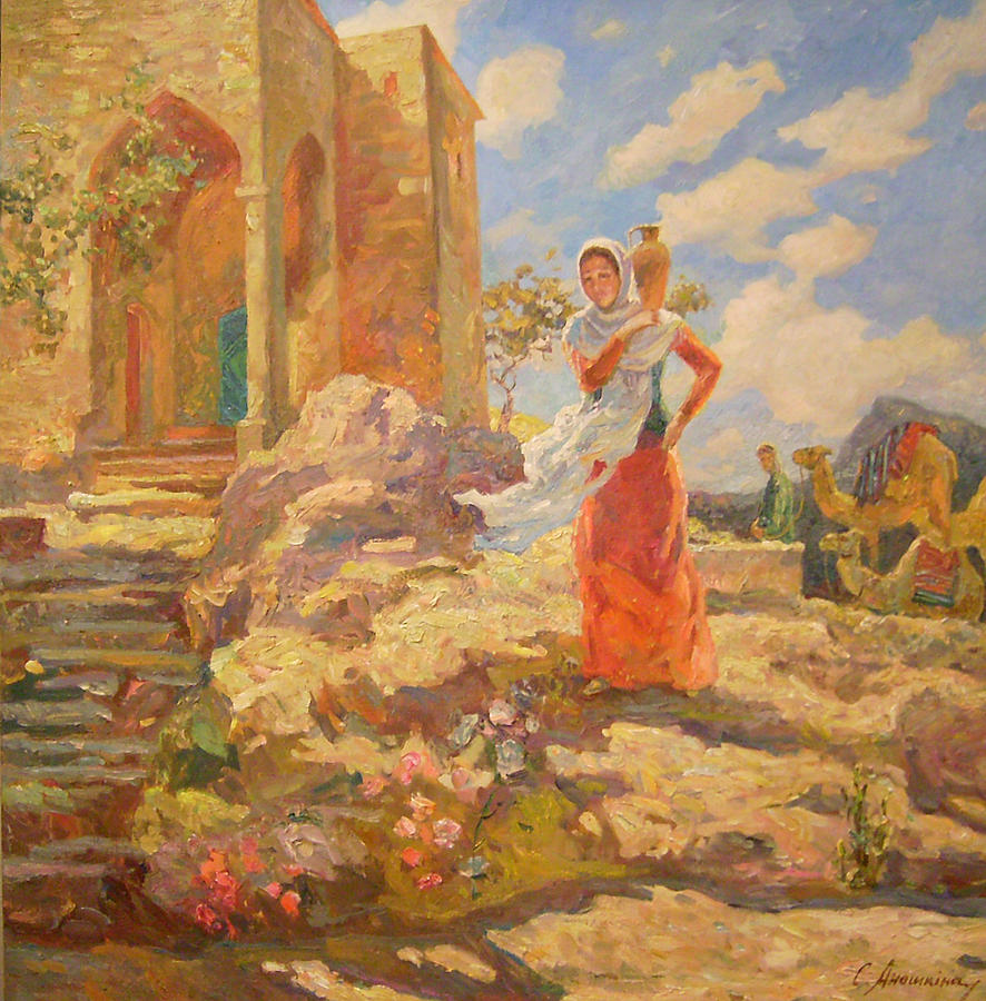 Revekka Near The Well Painting  - Revekka Near The Well Fine Art Print