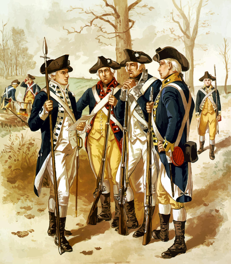 Revolutionary War Infantry Painting