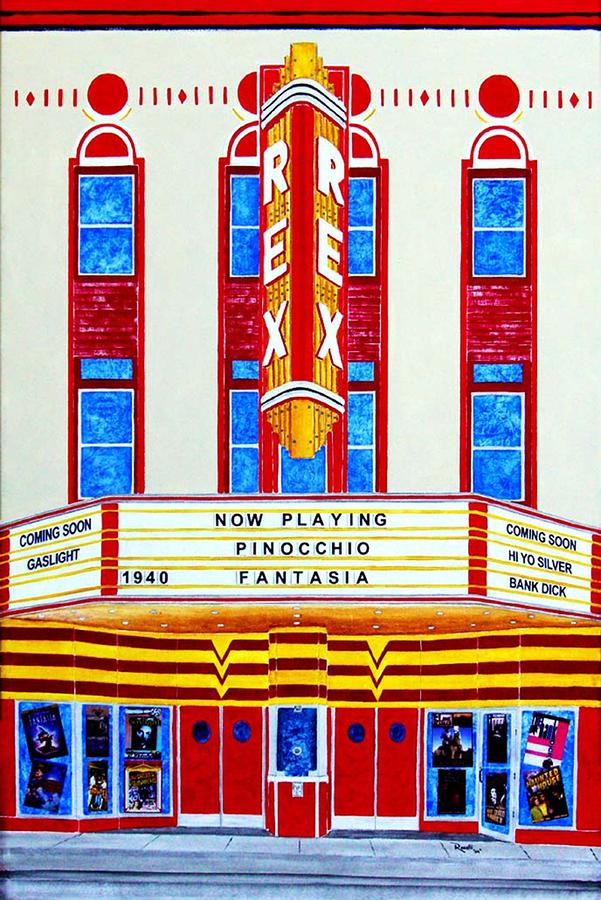 Rex Theater Pensacola Florida Mixed Media