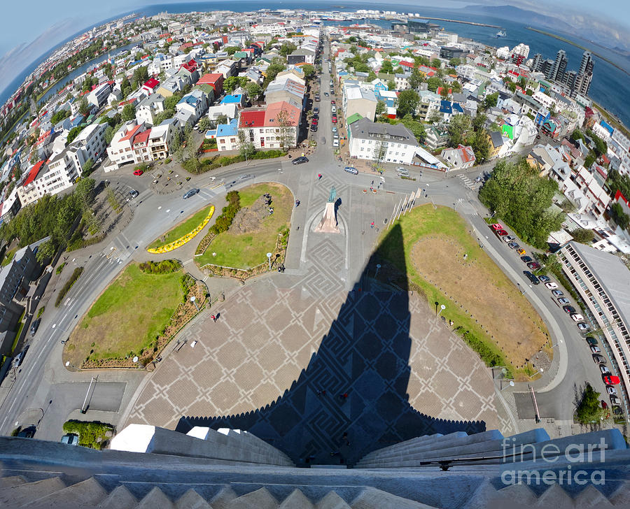 Reykjavik Iceland - Aerial View Photograph