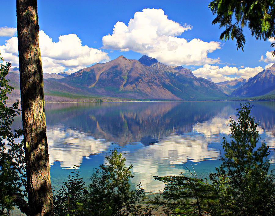 Rflection On Lake Mcdonald Photograph  - Rflection On Lake Mcdonald Fine Art Print